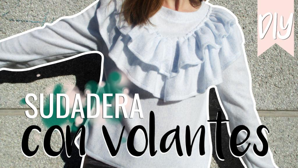 DIY Sudadera con volantes Looks and DIY