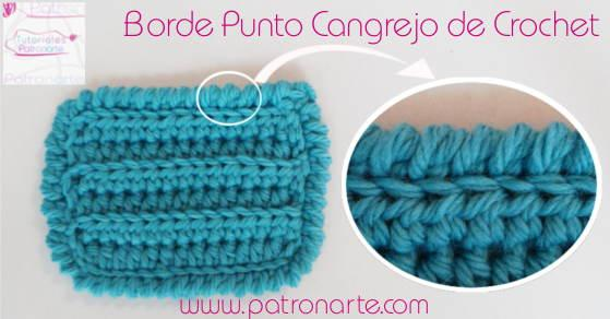 borde de crochet a punto cangrejo blog