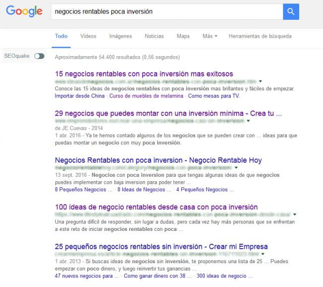 captura google negocios rentables poca inversion