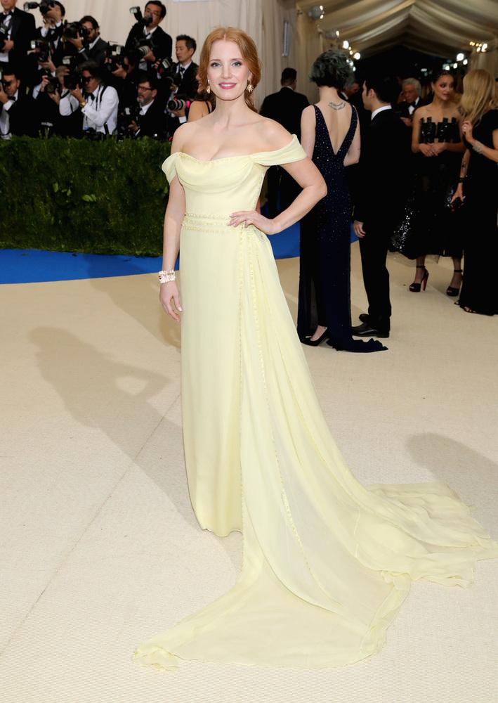 Jessica Chastain - Mejores outfits y peores estilismos Gala Met 2017