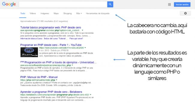 captura resultados google