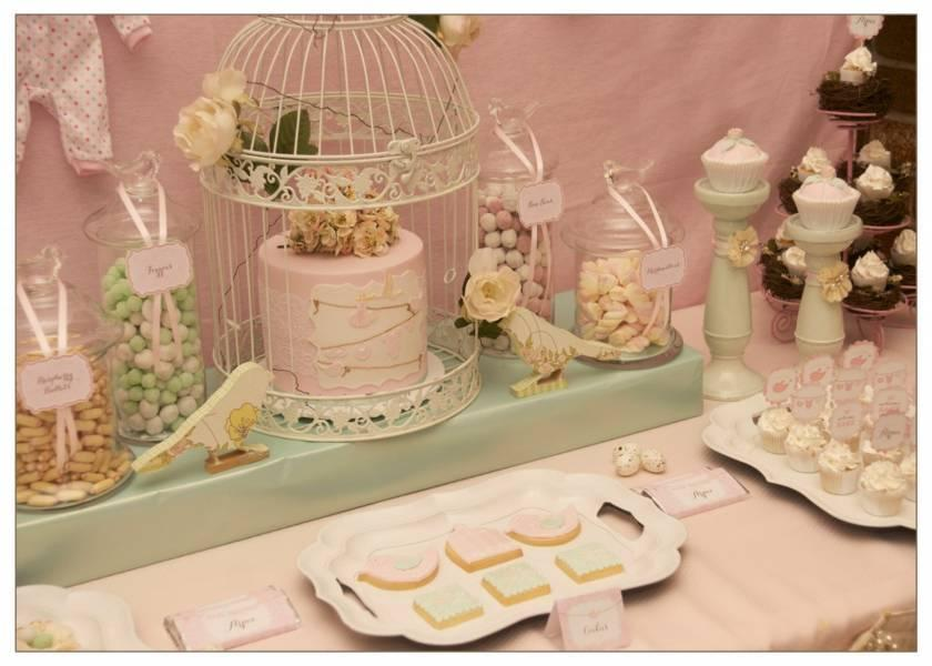 Decoración Vintage para baby shower
