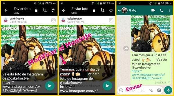 compartir video instagram via whatsapp