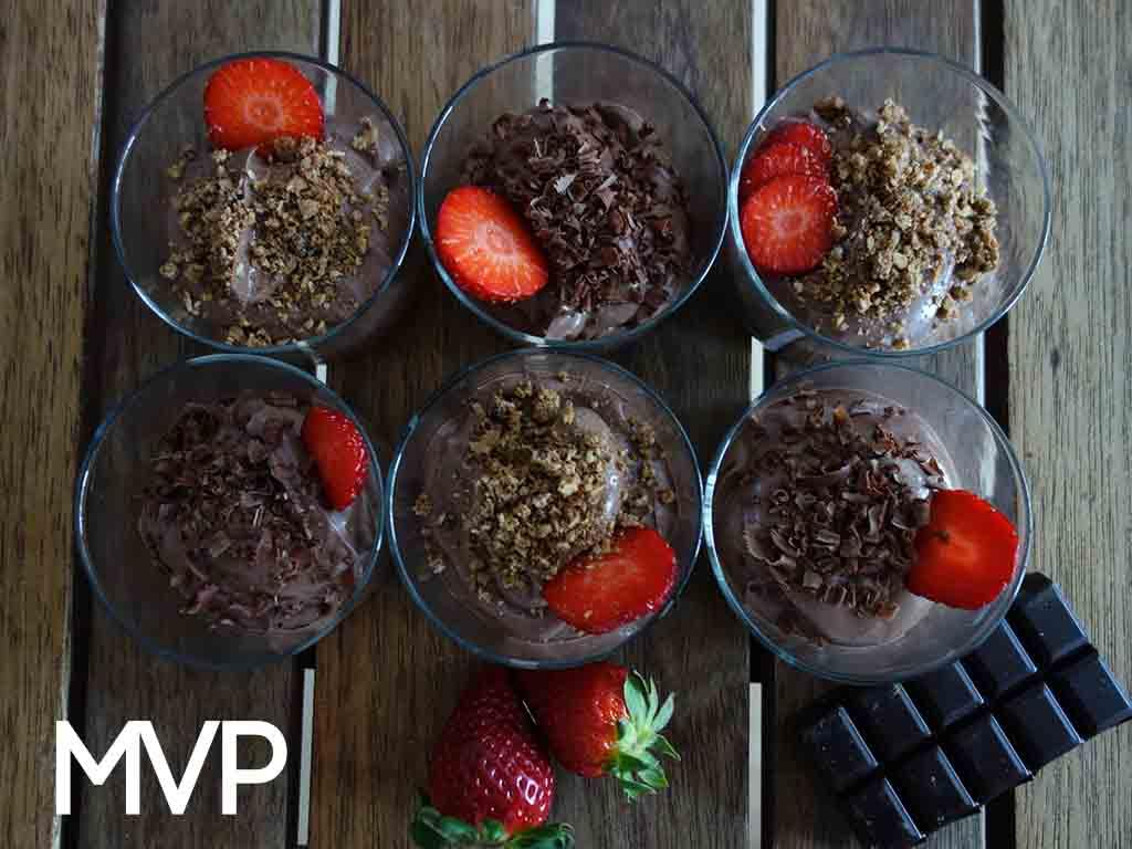 mousse chocolate vegano postre