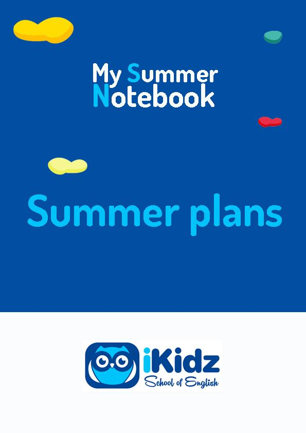 My summer Notebook portada_Summer plans