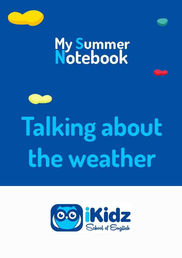 My summer Notebook portada_Talking about the weather
