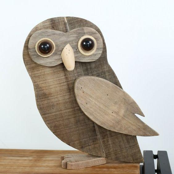 Vintage Wooden Animal Decorations Recycled ArtWood & Organic: