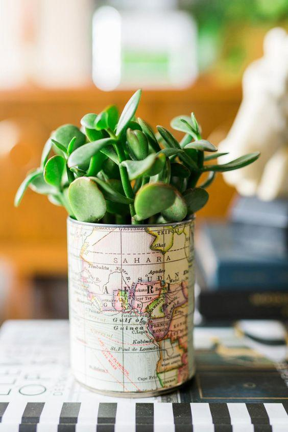 Look how chic this succulent planter is! Would you believe it was once a humble soup can? --> http://www.hgtv.com/design/make-and-celebrate/handmade/1/easy-tin-can-crafts?soc=shpinparty: