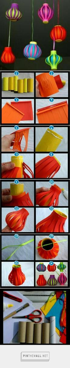 Clever use for toilet paper rolls and fun way to make lanterns: