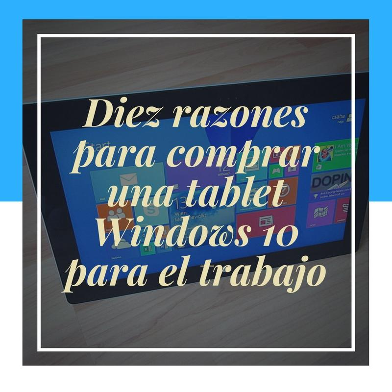 tablet windows 10 trabajo