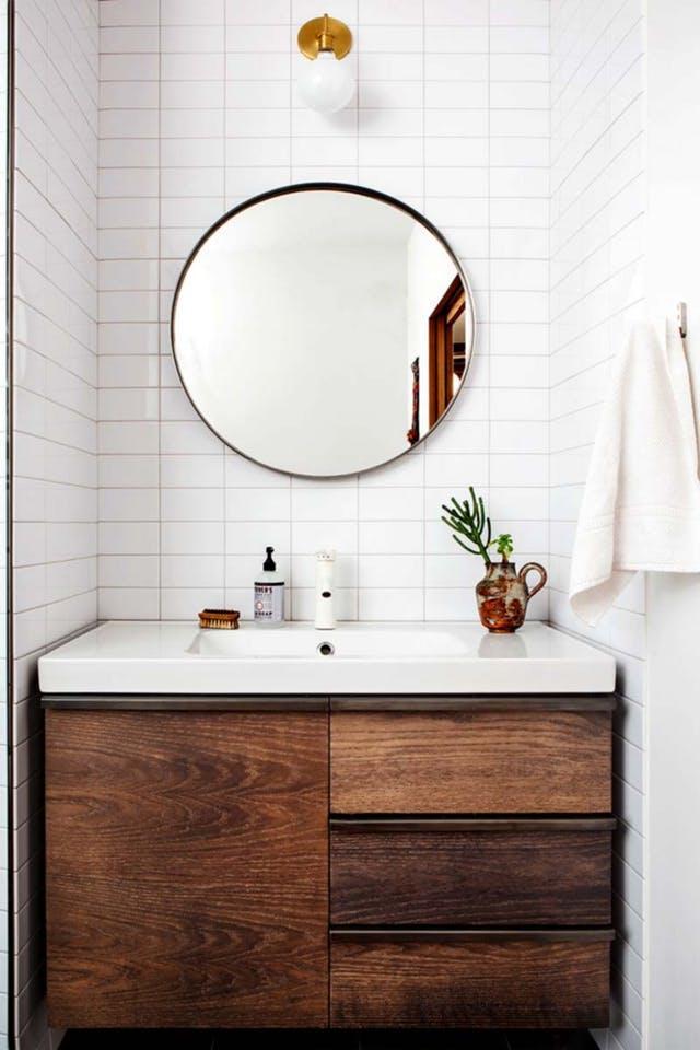 Espejos redondos para el cuarto de baño | Decoración