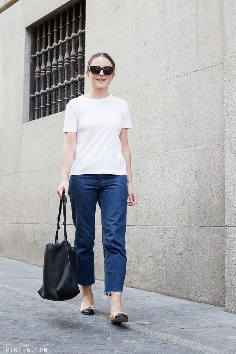 Trini |The Row t-shirt Levis jeans