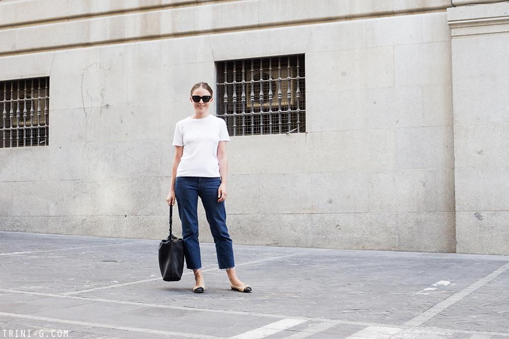 Trini | The Row t-shirt Levis jeans