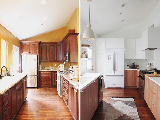 before and after kitchen comodoos interiores