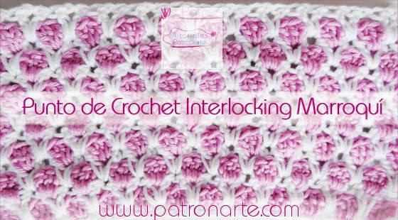 Punto de Crochet Interlocking Marroquí blog