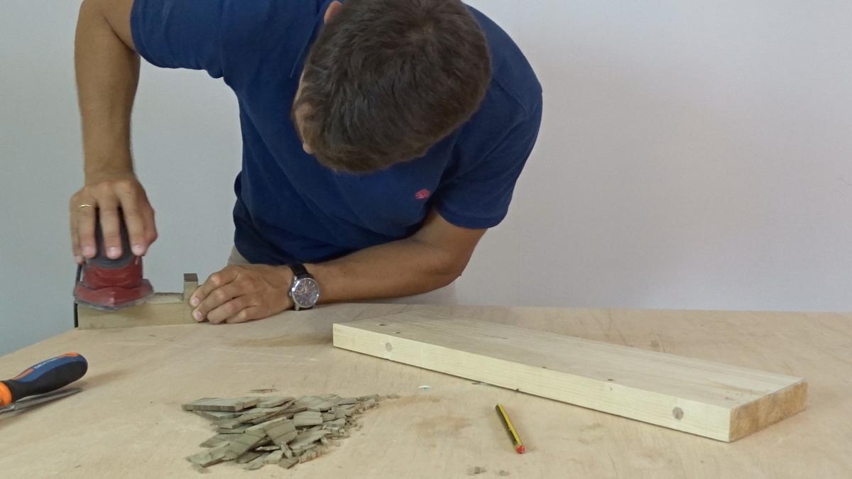Como hacer un toallero de madera | DIY towel holder 5