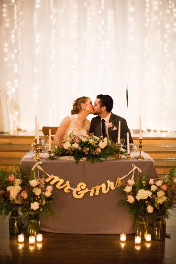 Mesa presidencial para dos. Blog de bodas. Ideas para boda. Wedding Planner Alicante.