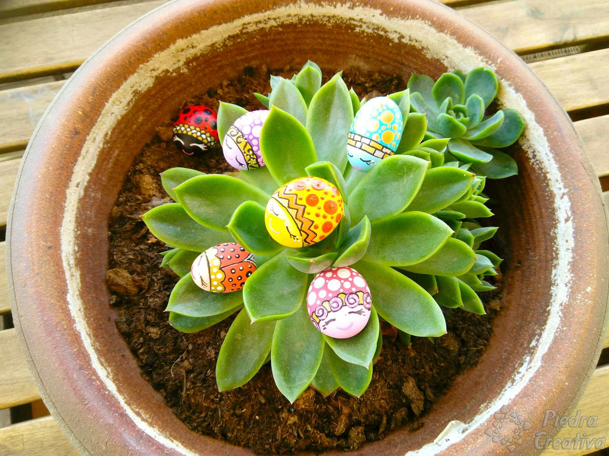 DIY mariquitas en piedras de PiedraCreativa