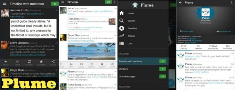 plume for android