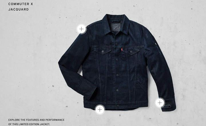 Levis® Commuter™ Trucker Jacket with Jacquard™ by Google chaqueta vaquera smart