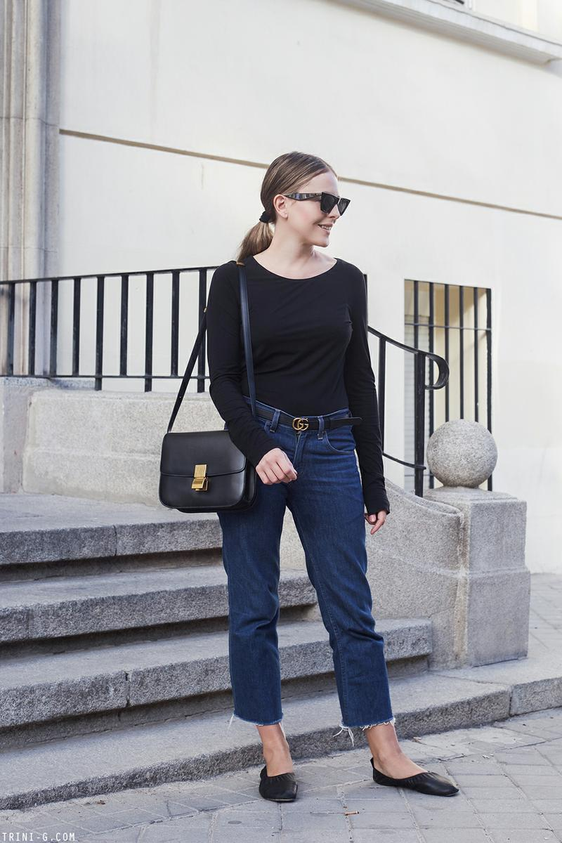 Trini | Wolford top Levis jeans