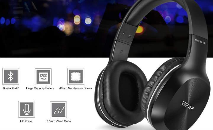 cascos inalambricos con drivers de 40mm y Chip Bluetooth CRS