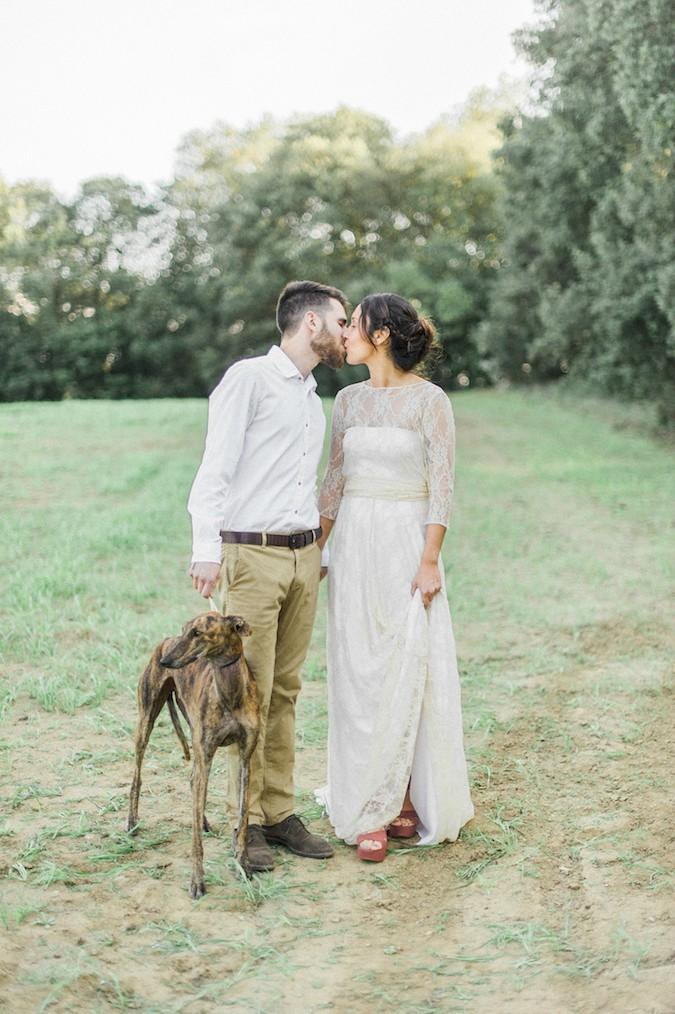 organical slow autumn elopement