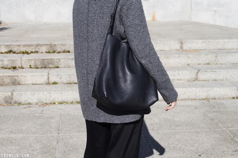 Trini | The Row sweater Theyskens Theory pants