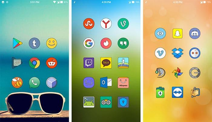 imagen Sugar Lines Oreo Icon Pack