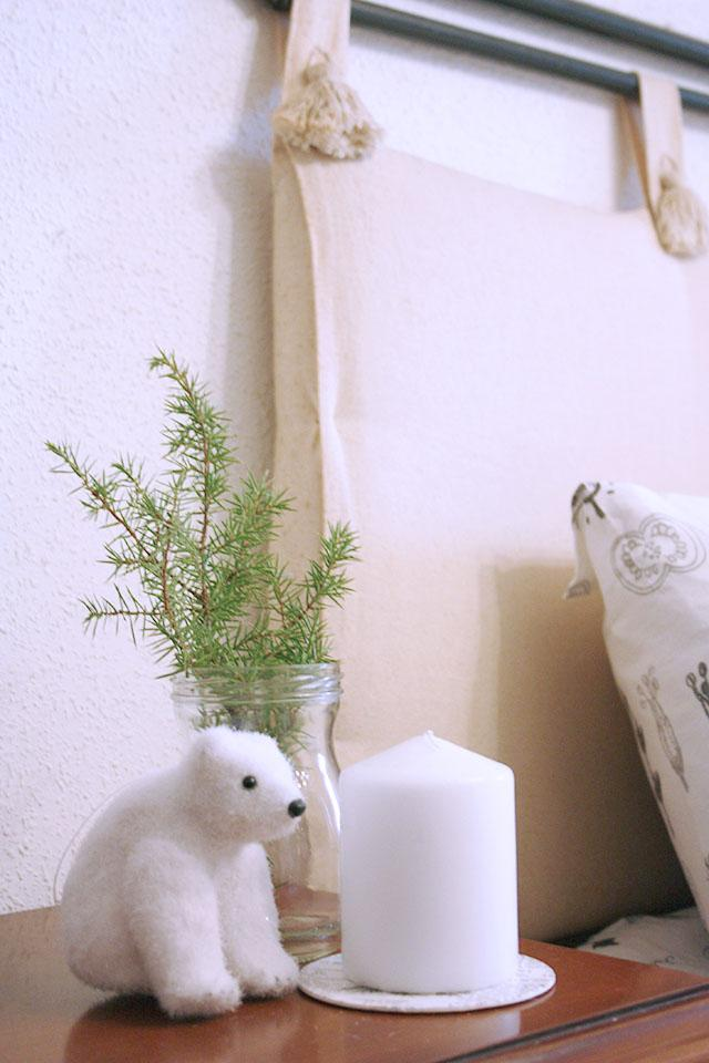 Decoración navideña natural oso polar