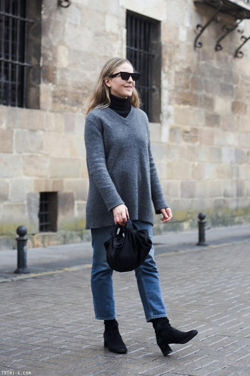 Trini | Acne Studios jeans The Row sweater