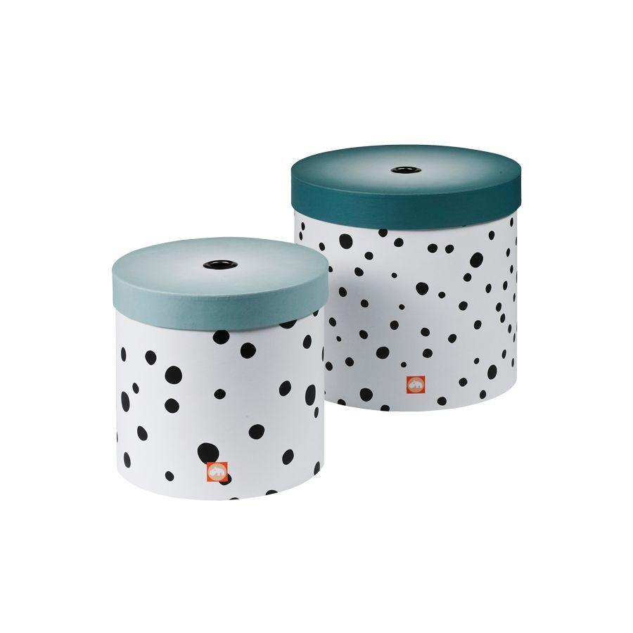 Set de 2 Cajas Happy Dots Blue Done by Deer