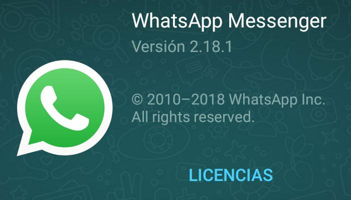 imagen WhatsApp para Android 2.18.1