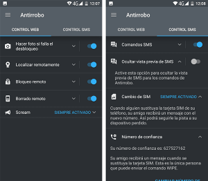 antirrobo dispositivo android.