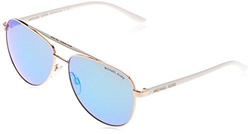 Michael Kors Womens Hvar Rose Gold/White Sunglasses