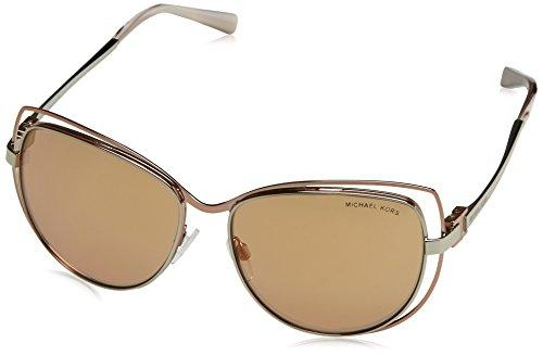Michael Kors MK1013 1121R1 Silver/Rose Gold Audrina I Cats Eyes Sunglasses Lens