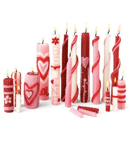 Valentine Homemade Beeswax Candle Rolling Kit