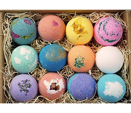 LifeAround2Angels Bath Bombs Gift Set 12 USA made Fizzies, Shea & Coco Butter Dry Skin Moisturize, Perfect for Bubble & Spa Bath. Handmade Birthday Gift idea For Her/Him, wife, girlfriend, men, women