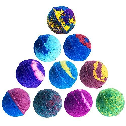 6 Large USA Made Bath Bomb Gift Set w/Free Handmade Bar Of Soap - Ultra Lush Bath Fizzies - 200 Different Varieties, Assorted Gift Box Vegan Perfect Gift For Her or kids Spa Moisturize Kit Organic