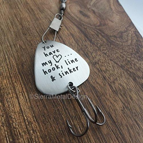You have my Heart... Hook, Line & Sinker Fishing Lure Husband Fishing Lure Custom Fishing Lure Engraved For Him Mens Fishing Lure, Hook, Line and Sinker Gift Lure