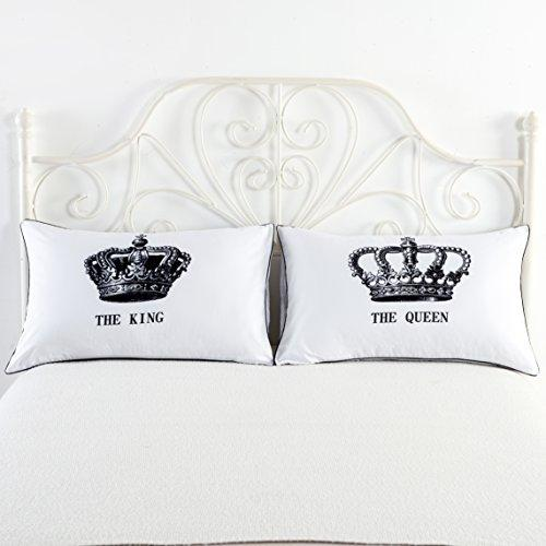 King and Queen Couples Pillow Cases,His Hers Pillowcases,Romantic Gifts,Funny Gift for Him, Gifts for Husband