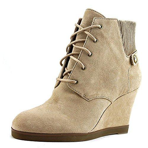 MICHAEL Michael Kors Womens Carrigan Wedge Dark Khaki Sport Suede Boot 5 M