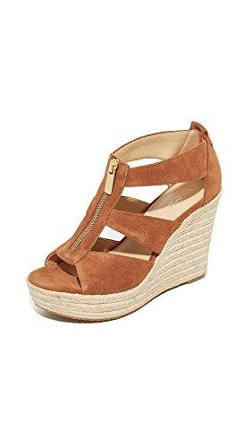 MICHAEL Michael Kors Womens Damita Wedges, Luggage, 10 B(M) US