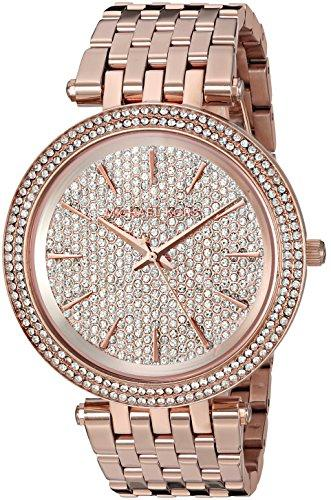 Michael Kors Womens Darci Rose Gold-Tone Watch MK3439