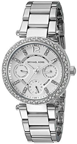 Michael Kors Womens Mini Parker Silver-Tone Watch MK5615