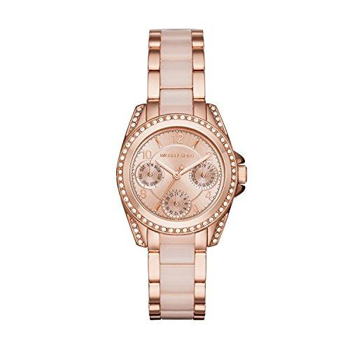 Michael Kors Womens Mini Blair Rose Gold-Tone Watch MK6175
