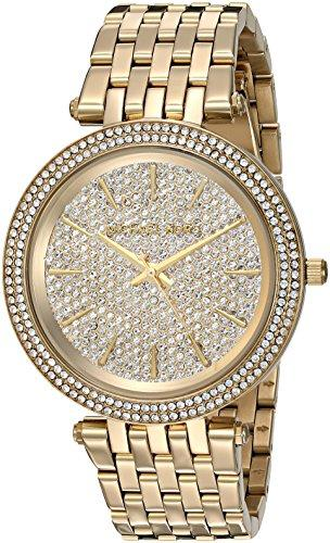 Michael Kors Womens Darci Gold- Tone Watch MK3438