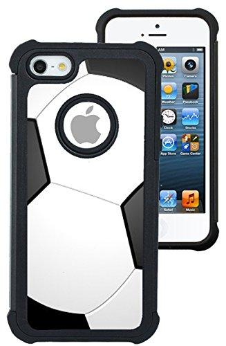 CorpCase iPhone 5 Case / iPhone 5S Case / iPhone SE Case - Soccer/ Hybrid Unique Case With Great Protection