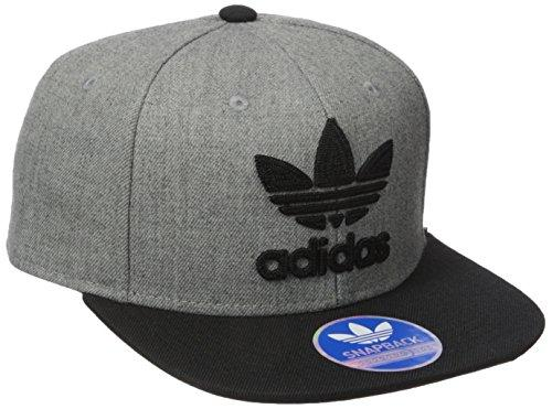 Adidas Mens Originals Trefoil Chain Snapback Cap, Heather Grey/Black, One Size