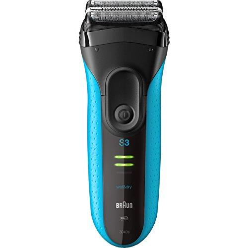 Braun Series 3 ProSkin 3010s Mens Electric Foil Shaver / Rechargeable Electric Razor, Wet & Dry, Blue